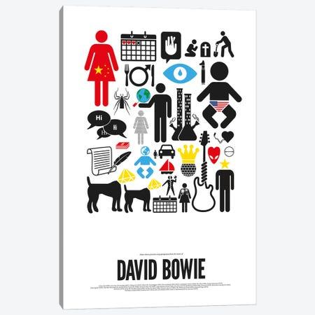 David Bowie Canvas Print #VHE7} by Viktor Hertz Canvas Wall Art