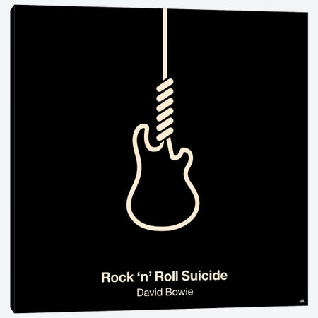 Rock 'N' Roll Suicide Canvas Print #VHE80} by Viktor Hertz Canvas Art Print