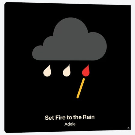Set Fire To The Rain Canvas Print #VHE83} by Viktor Hertz Canvas Art Print