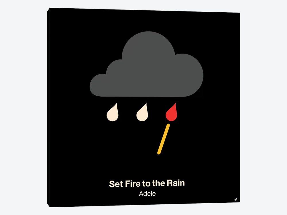 Set Fire To The Rain by Viktor Hertz 1-piece Art Print
