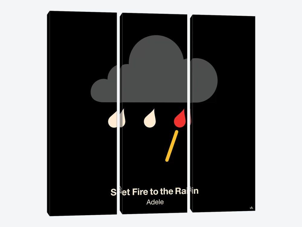 Set Fire To The Rain by Viktor Hertz 3-piece Art Print