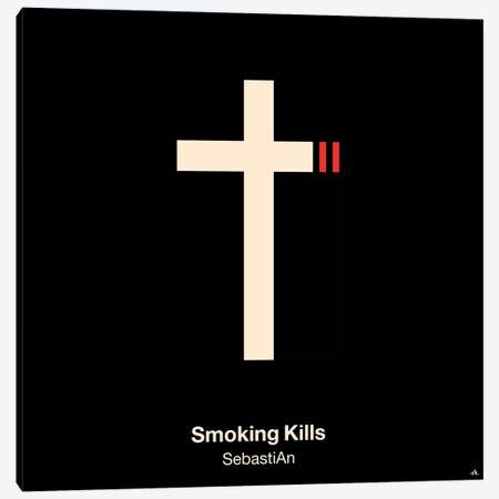 Smoking Kills Canvas Print #VHE87} by Viktor Hertz Canvas Artwork