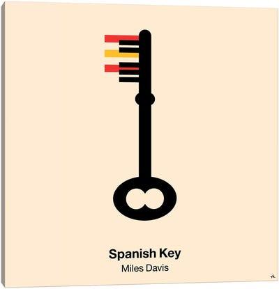 Spanish Key Canvas Art Print