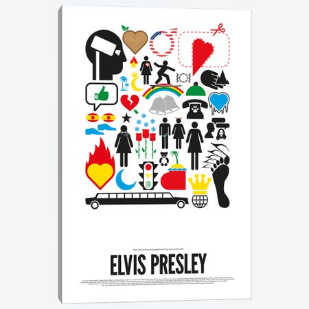 Elvis Presley Canvas Print #VHE8} by Viktor Hertz Art Print