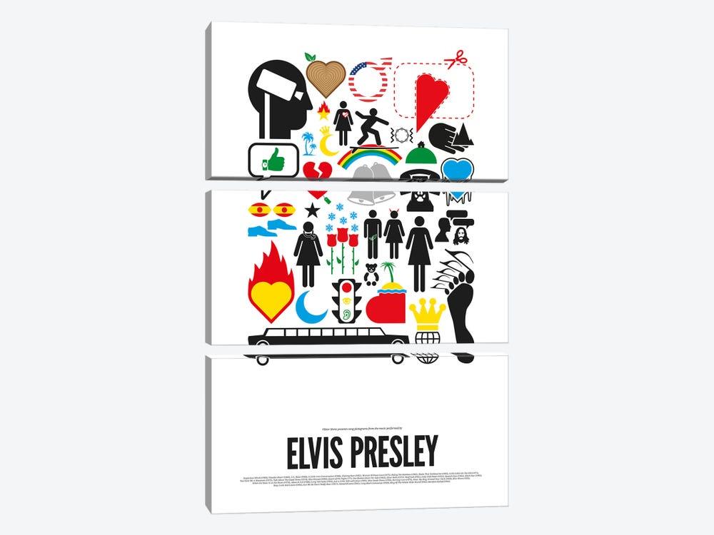 Elvis Presley by Viktor Hertz 3-piece Canvas Art Print