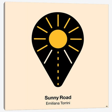 Sunny Road Canvas Print #VHE92} by Viktor Hertz Canvas Wall Art