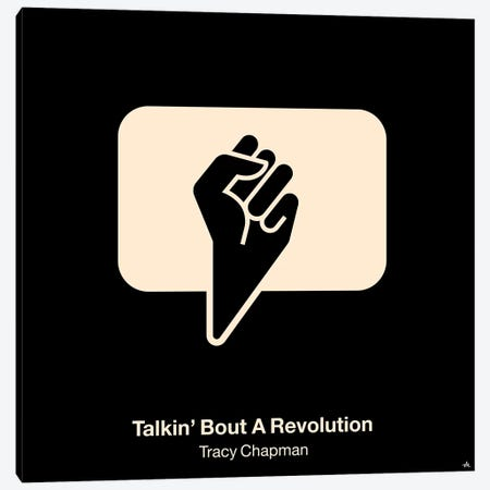 Talkin Bout A Revolution Canvas Print #VHE94} by Viktor Hertz Canvas Print