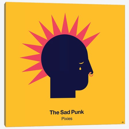 The Sad Punk Canvas Print #VHE97} by Viktor Hertz Art Print