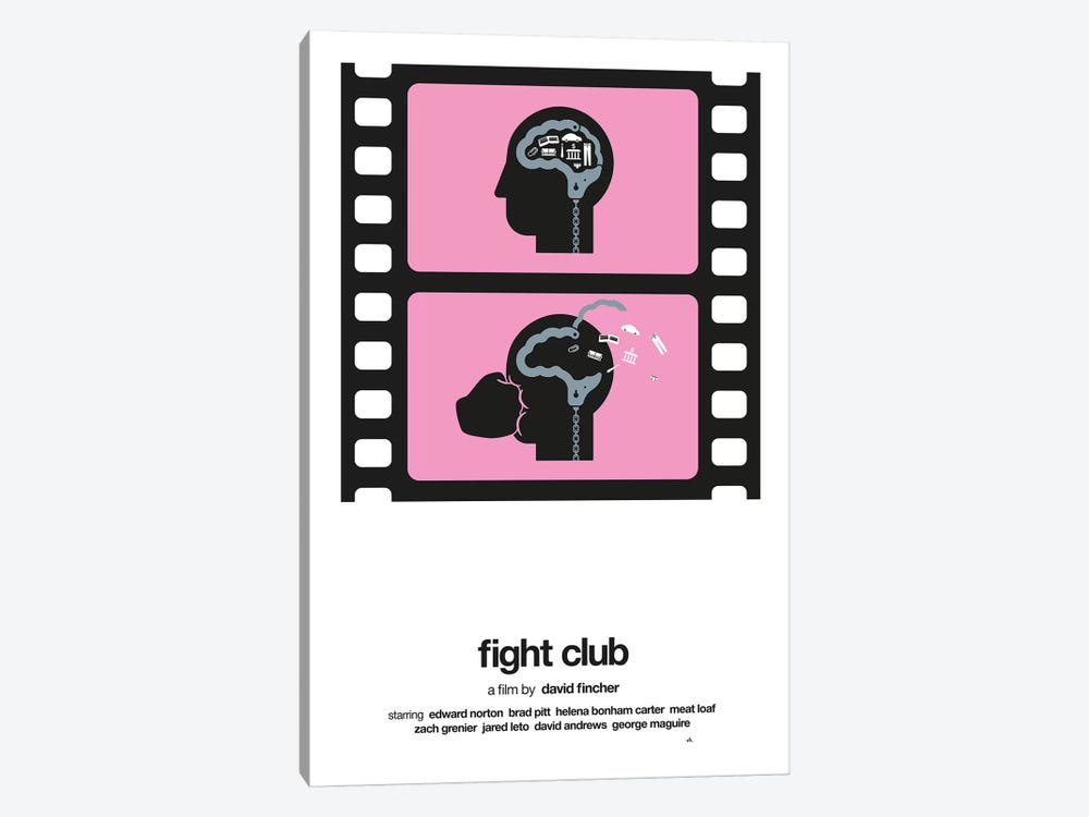 Fight Club by Viktor Hertz 1-piece Canvas Wall Art
