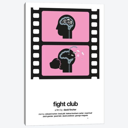 Fight Club Canvas Print #VHE9} by Viktor Hertz Canvas Art Print