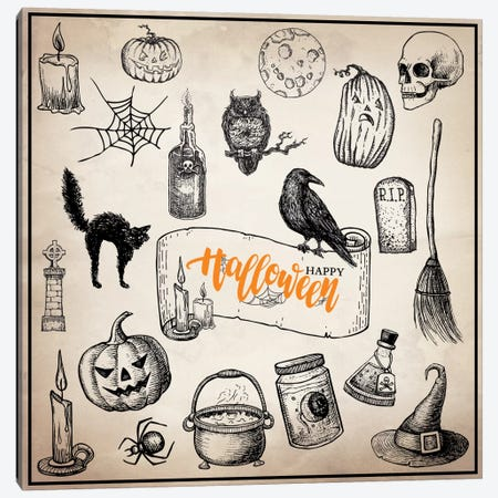 Halloween Trove Canvas Print #VHI2} by 5by5collective Canvas Print