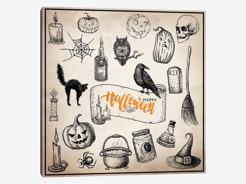 Halloween Trove by 5by5collective 1-piece Canvas Print
