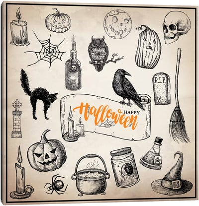 Halloween Trove Canvas Art Print