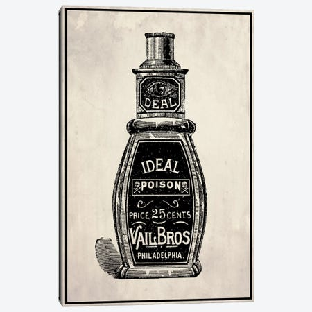 Poison Bottle Canvas Print #VHI3} by 5by5collective Canvas Print