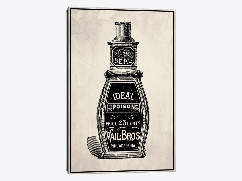 Poison Bottle by 5by5collective 1-piece Canvas Wall Art