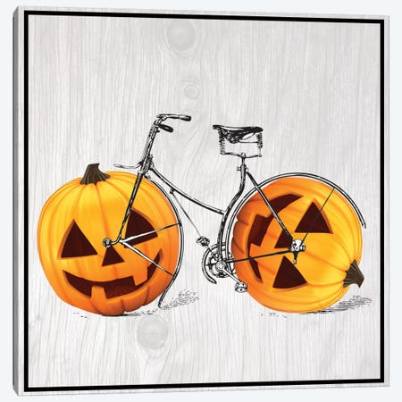 Pumpkin Bicycle Canvas Print #VHI6} by 5by5collective Canvas Wall Art