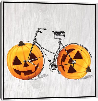 Pumpkin Bicycle Canvas Art Print