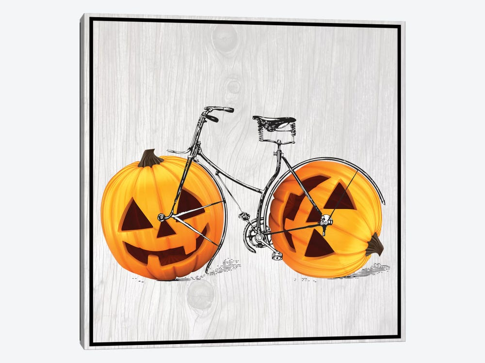 Pumpkin Bicycle by 5by5collective 1-piece Canvas Art Print