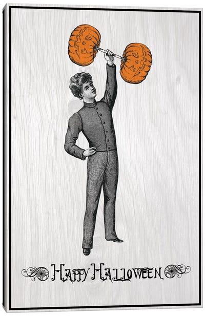 Pumpkin Strong Man Canvas Art Print