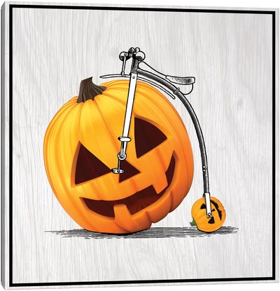 Pumpkin Penny Farthing Canvas Art Print