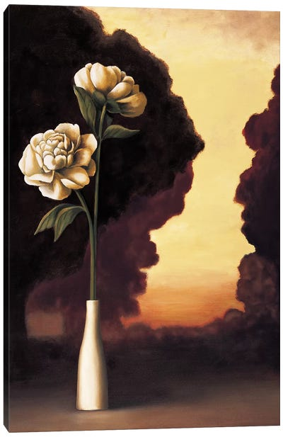 Floral Sunrise I Canvas Art Print