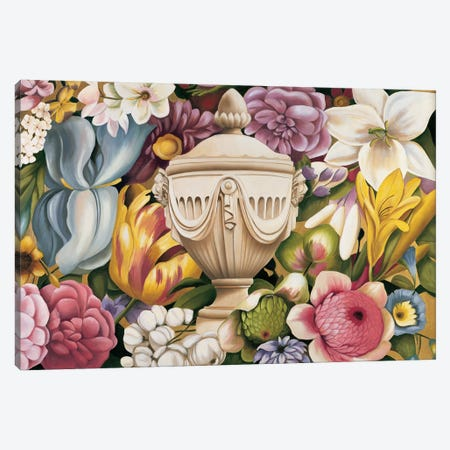 Floral Festa I Canvas Print #VHU1} by Virginia Huntington Canvas Artwork