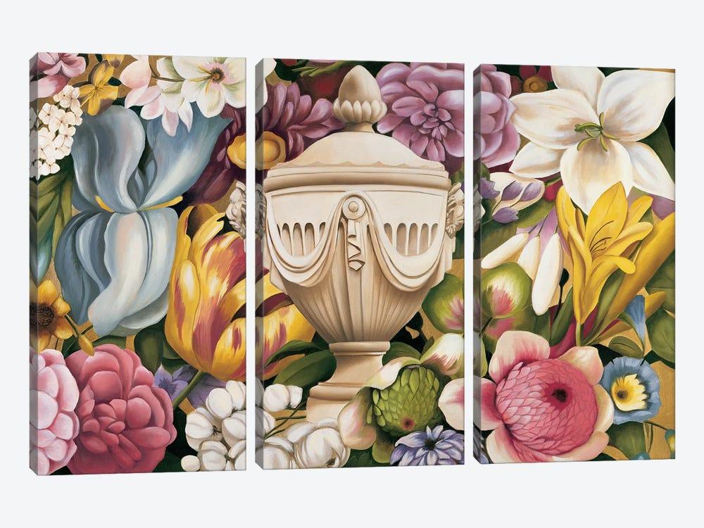 Floral Festa I by Virginia Huntington 3-piece Canvas Wall Art