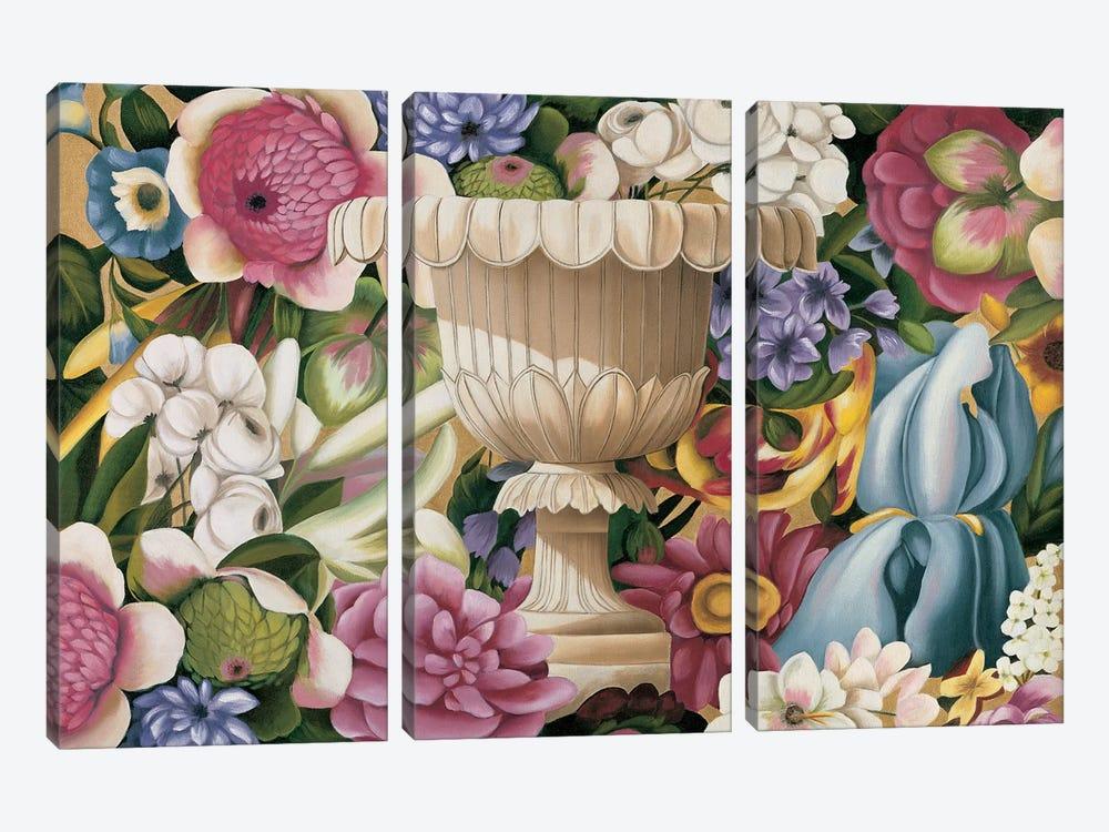 Floral Festa II by Virginia Huntington 3-piece Canvas Art Print