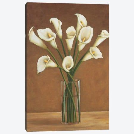 Callas dans un vase Canvas Print #VHU4} by Virginia Huntington Art Print
