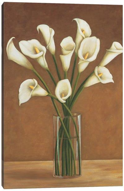 Callas dans un vase Canvas Art Print