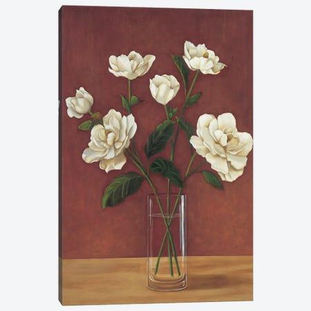 Fleurs de Magnolia Canvas Print #VHU5} by Virginia Huntington Art Print