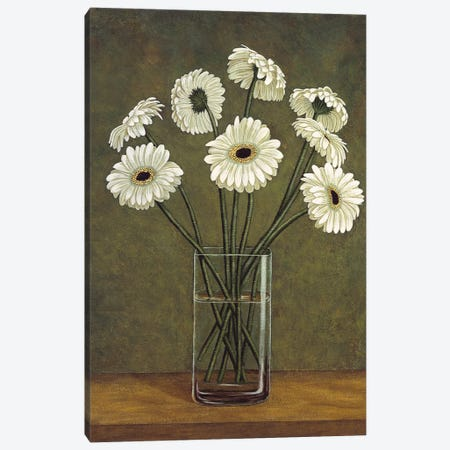 Vase de marguerite Canvas Print #VHU7} by Virginia Huntington Art Print