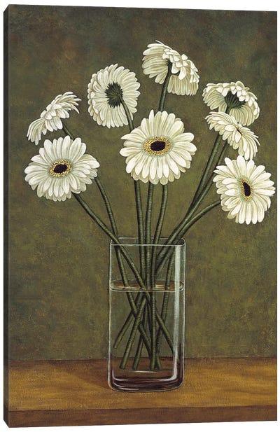 Vase de marguerite Canvas Art Print