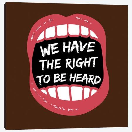 Hear Our Rights BLM Canvas Print #VIB12} by Victoria Brown Canvas Wall Art