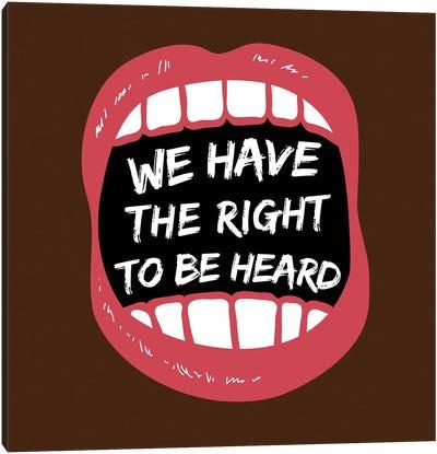 Hear Our Rights BLM Canvas Art Print