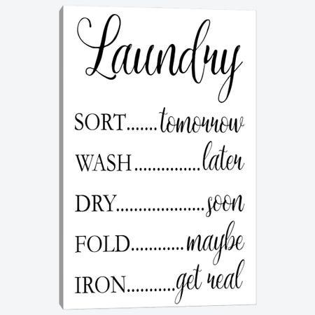 Laundry Words I Canvas Print #VIB14} by Victoria Brown Art Print