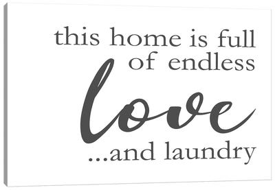 Laundry Words II Canvas Art Print