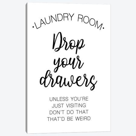 Laundry Words IV Canvas Print #VIB17} by Victoria Brown Art Print