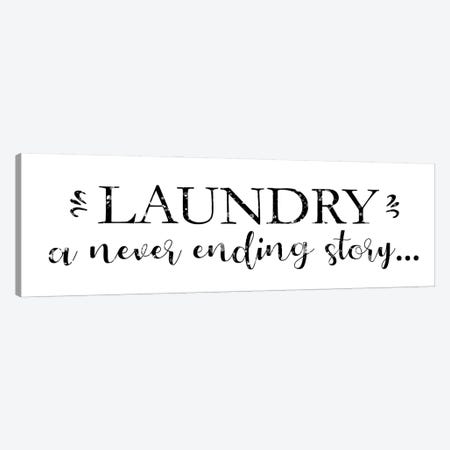 Laundry Words V Canvas Print #VIB18} by Victoria Brown Canvas Artwork