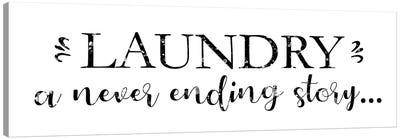 Laundry Words V Canvas Art Print