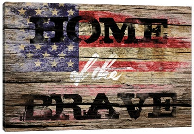 Home Of The Brave Canvas Art Print