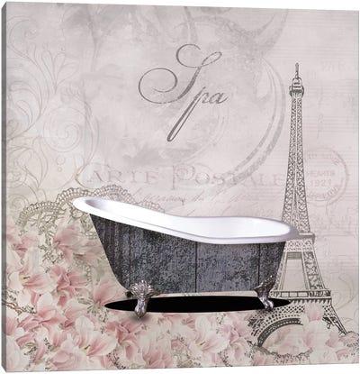 Floral Bath I Canvas Art Print