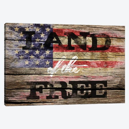 Land Of The Free Canvas Print #VIB2} by Victoria Brown Art Print