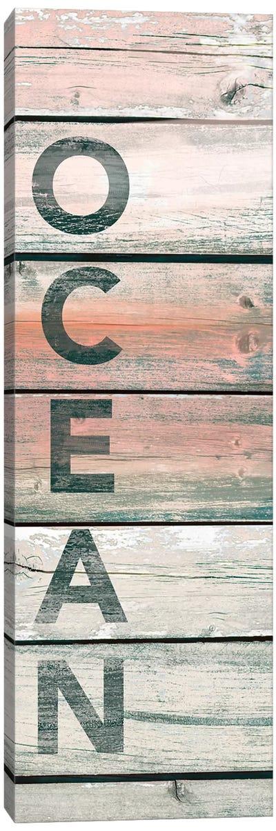 Ocean Wood Canvas Art Print