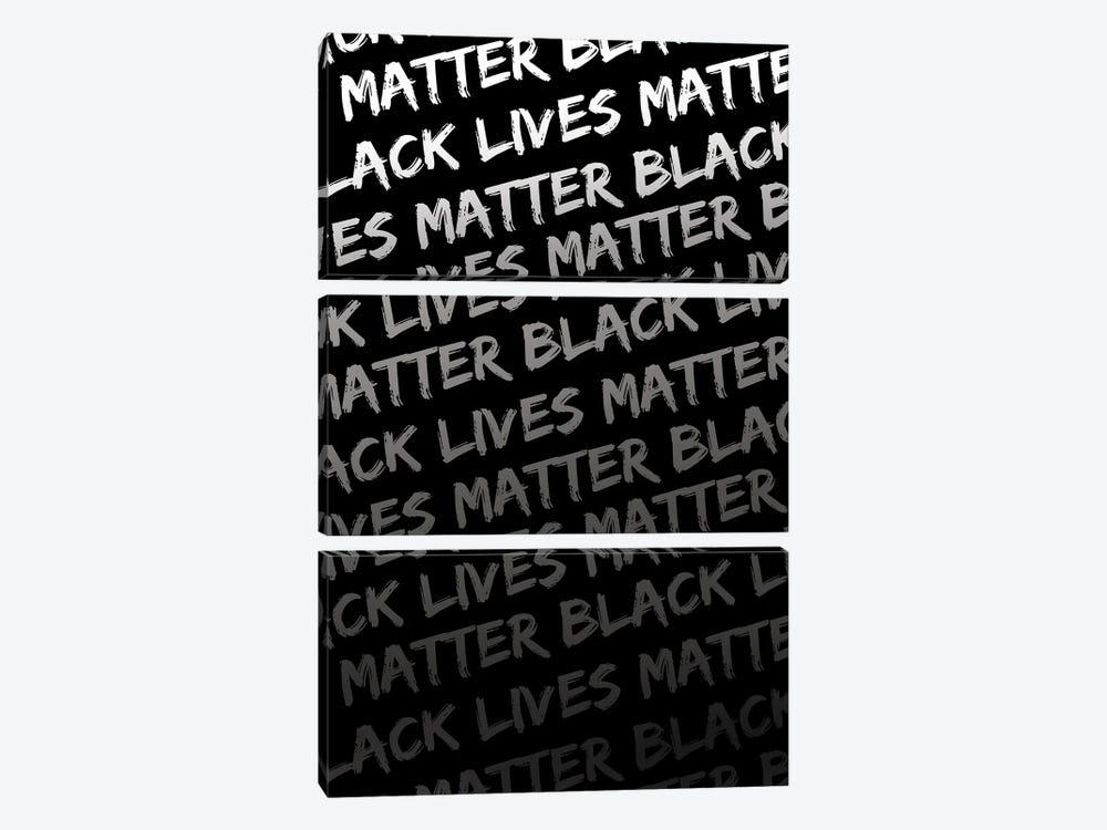 Black Lives Matter IX by Victoria Brown 3-piece Canvas Wall Art