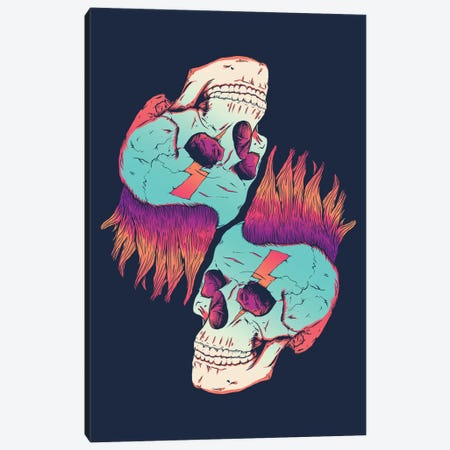 Skull Redux Canvas Print #VIC16} by Victor Vercesi Canvas Art