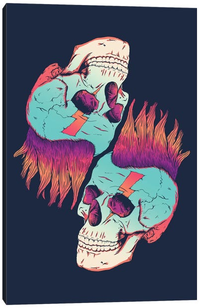 Skull Redux Canvas Print #VIC16