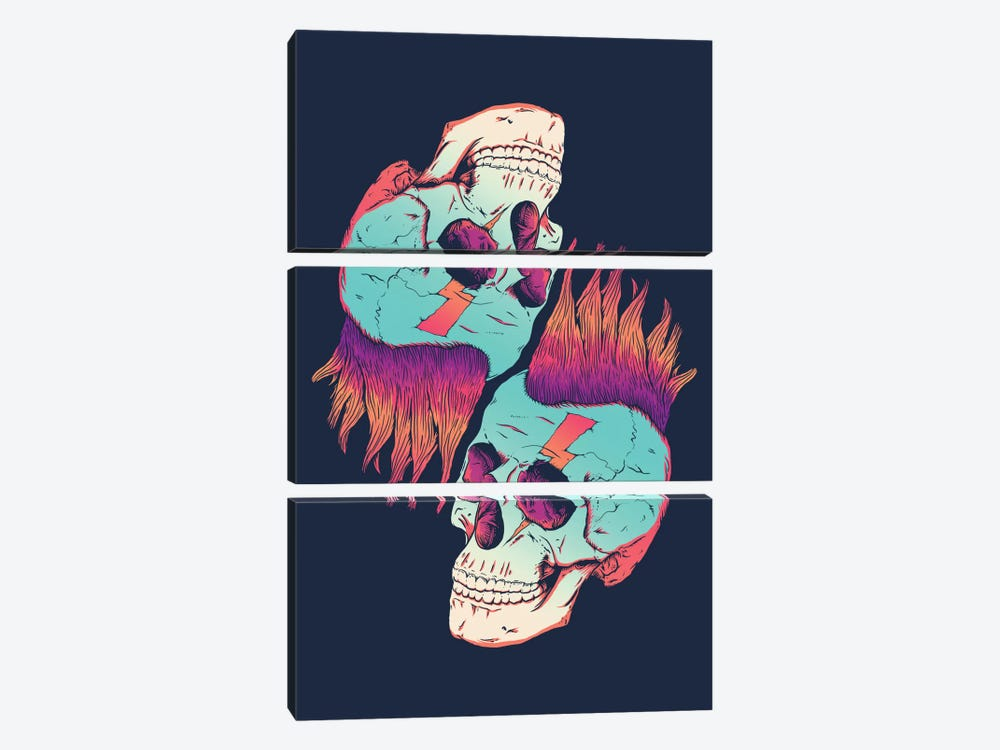 Skull Redux by Victor Vercesi 3-piece Canvas Print