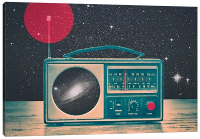 Space Radio Canvas Art Print