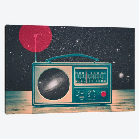 Space Radio Canvas Print #VIC18} by Victor Vercesi Art Print